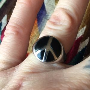 Jewelry - Sterling Silver Peace sign Ring!